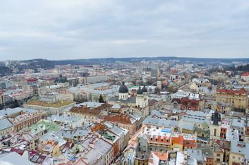 Foto op Canvas Lviv, city view, historical city center, Ukraine, Western Ukraine