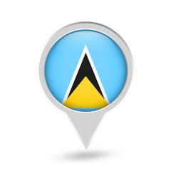 Santa Lucia Flag Round Pin Icon