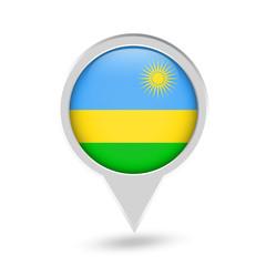 Rwanda Flag Round Pin Icon