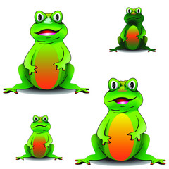Cute, cartoon frogs