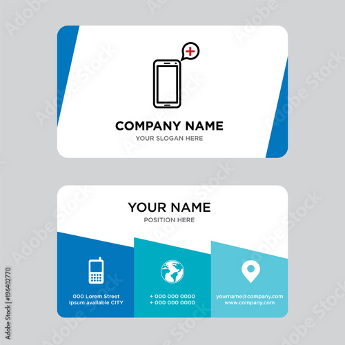 telemedicine business card design template, Visiting for your