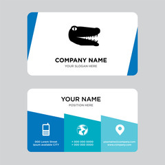 gator business card design template, Visiting for your company, Modern Creative and Clean identity Card Vector Illustration