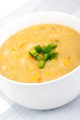 home made corn chowder cream soup