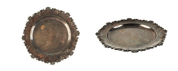 Vintage plate isolated on white