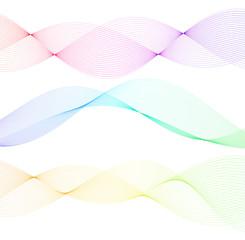 design element wavy lines tape motion27