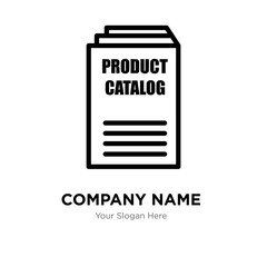 product catalogue company logo design template, Business corporate vector icon