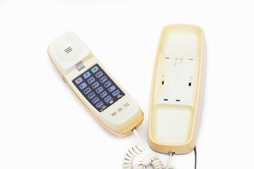A vintage analog telephone