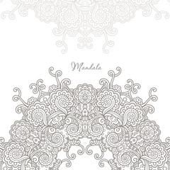 mandala mehndi vector pattern,  ethnic paisley buta hindu oriental ornament, purple curl, floral motif
