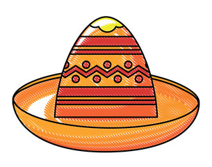 mexican hat icon over white background, colorful design. vector illustration