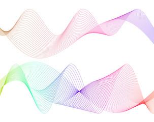 design element wavy lines tape motion36
