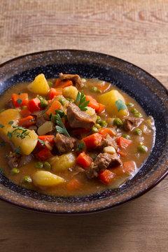 Traditional Irish lamb stew. Nutritious savory dish, popular in Ireland
