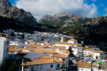 roof patterns of andalusian white village grazalema, spain