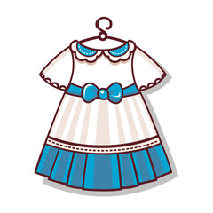 The cartoon style. Dress color for the child
