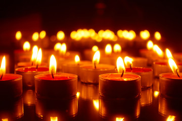 Easter - burning candles