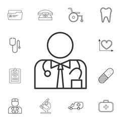 Medical Doctor icon. Detailed set of medicine outline icons. Premium quality graphic design icon. One of the collection icons for websites, web design, mobile app