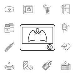 Lungs X-Ray icon. Detailed set of medicine outline icons. Premium quality graphic design icon. One of the collection icons for websites, web design, mobile app