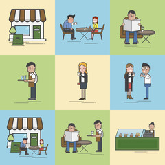 Illustration of coffee cafe