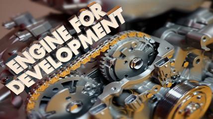 Engine for Development Growth Success 3d Illustration