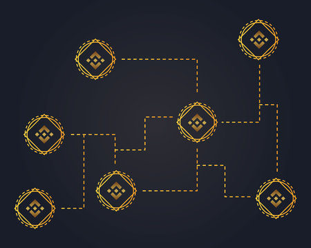 Binance coin network style background