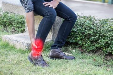 man have a ankle pain,Healthcare concept