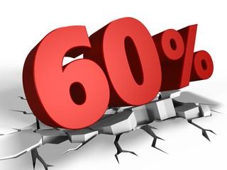 3d of 60 percent discount