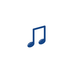 Music Note Icon Vector Template Design