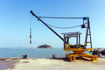 Crane on the dock
