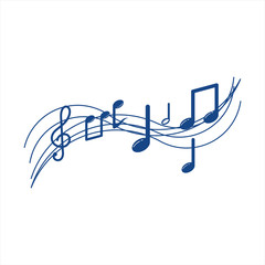 Musical Note Vector Template Design