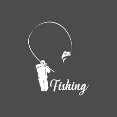Fishing Logo Vector Template Design