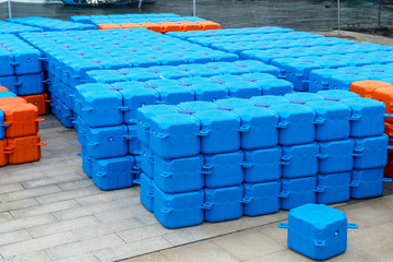 Plastic logistics box
