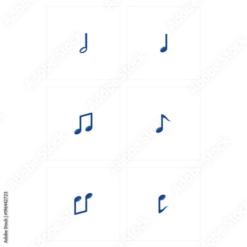 Musical Note Set Vector Template Design Stock Image And Royalty