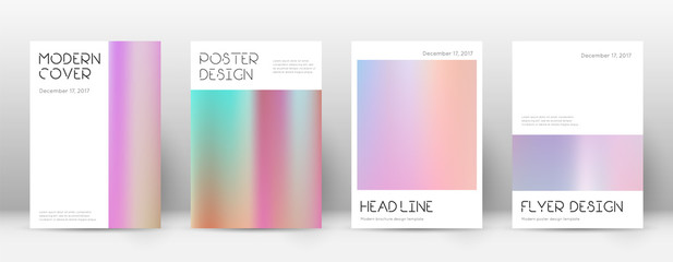 Flyer layout. Minimal surprising template for Brochure, Annual Report, Magazine, Poster, Corporate Presentation, Portfolio, Flyer. Appealing pastel hologram cover page.