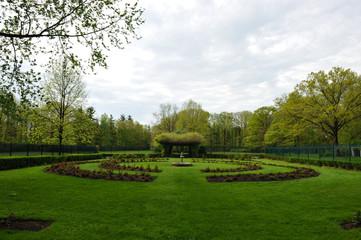 Park Monument shrubs