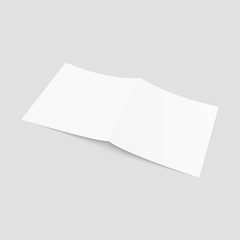 Blank of brochure, flyer, magazine or business card. Vector.