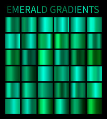 Emerald gradients collection for design