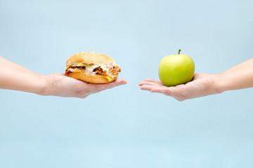 the choice between good and bad food