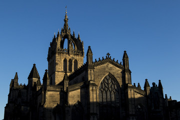 St Giles Cathedral on a clear blue day