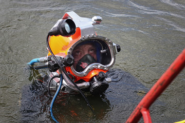 military diver for his work portrait