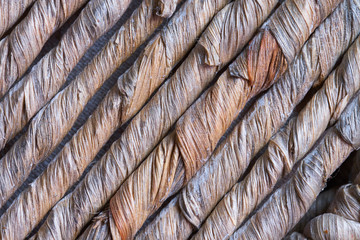 weaving element of coarse plant material