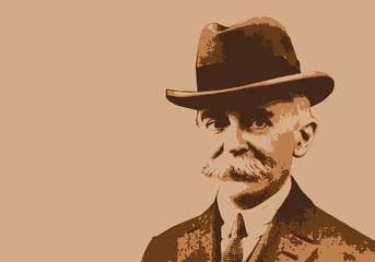 Coubertin - Pierre de Coubertin - portrait - personnage célèbre - sport - jeux Olympique
