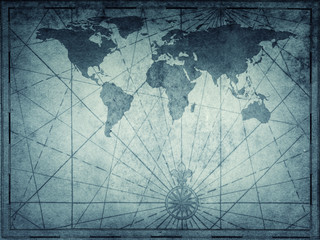 Wall Mural - Old map of the world. Travel, history and geography background. Elements of this Image Furnished by NASA.