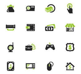 Pawn shop icons set