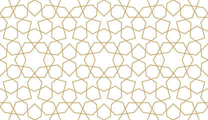Seamless pattern in authentic arabian style. Unexpanded strokes