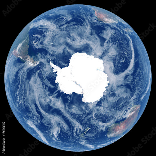 Earth from space  Satellite image of planet Earth  Photo of