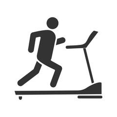 Treadmill glyph icon