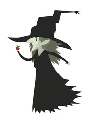 evil bad witch with apple