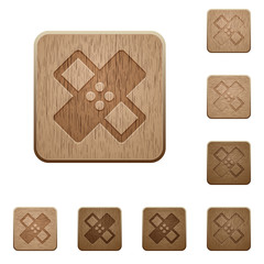 Medical bandage wooden buttons