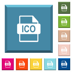 ICO file format white icons on edged square buttons
