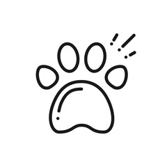 Paw Print Line Icon. Animal Footprint Sign and Symbol. Track. Trail.