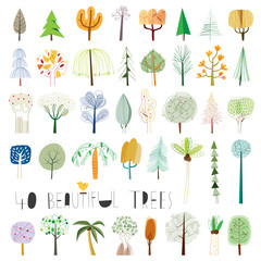 Vector tree illustration collection